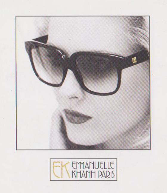 Decouvrez la collection de lunettes solaires Emmanuelle Khanh chez Zaff Optical